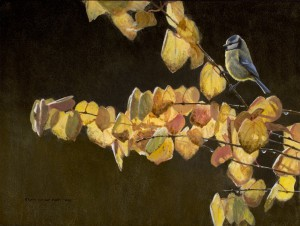 Schilderij pimpelmees