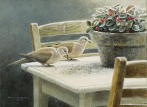 Schilderij Turkse tortels